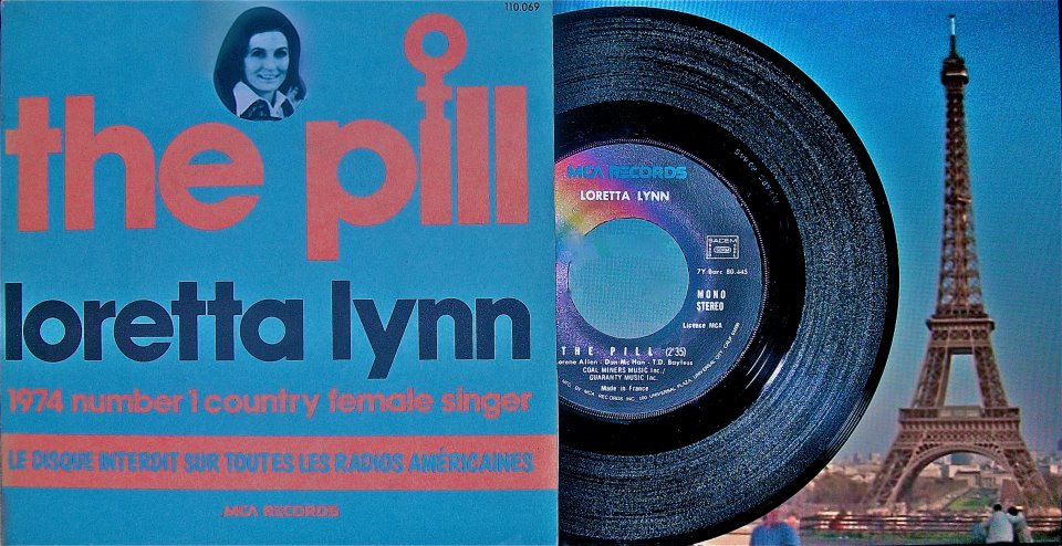 French Ad for The Pill by Loretta Lynn