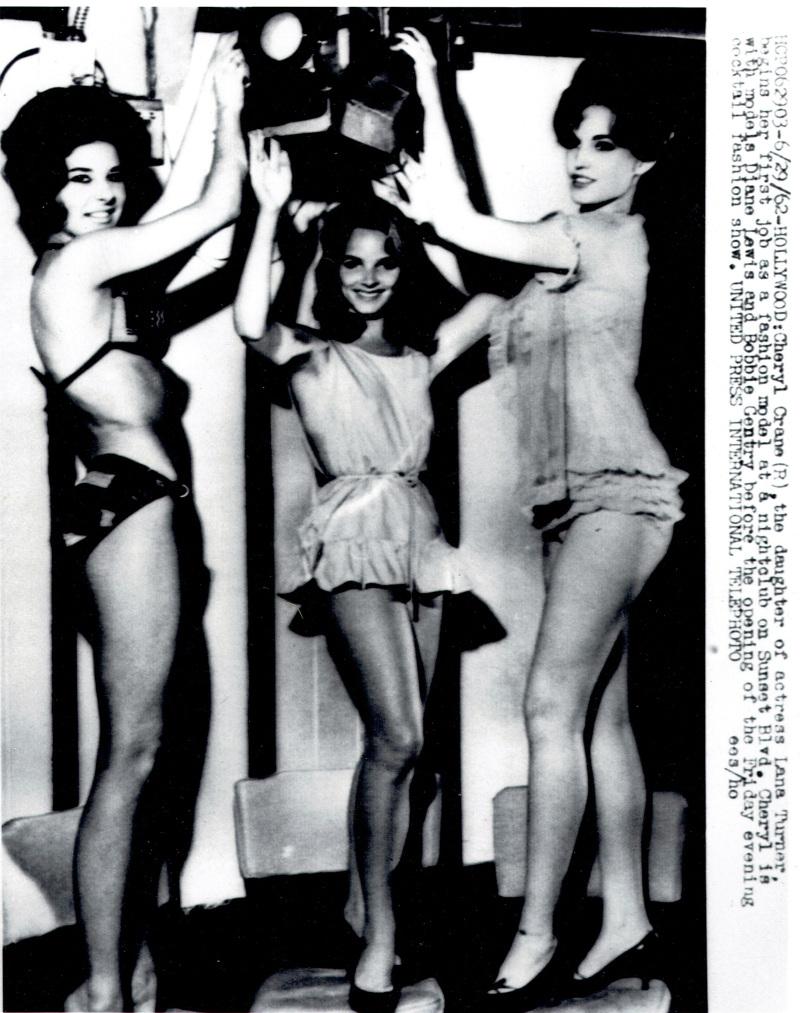 Bobbie and Cheryl Crane modeling