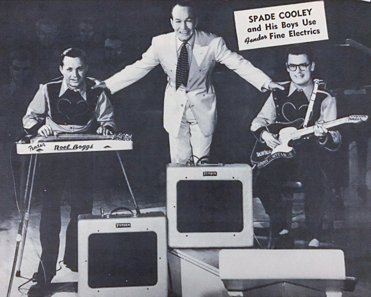 Spade Cooley Noel Boggs Jimmy Wyble Fender Ad