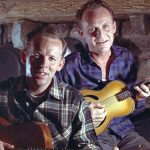 Louvin Brothers in cabin