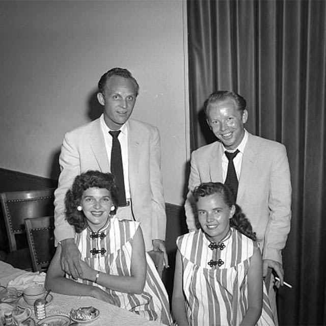 Ira & Charlie with Faye & Betty