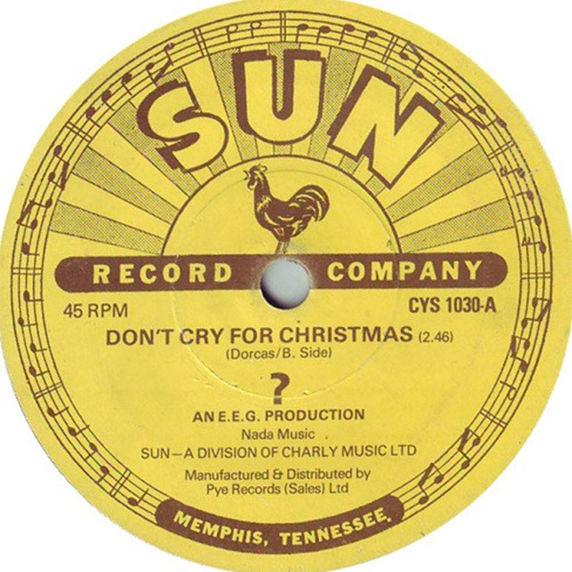 Don't Cry for Christmas Sun Records Question Mark Single