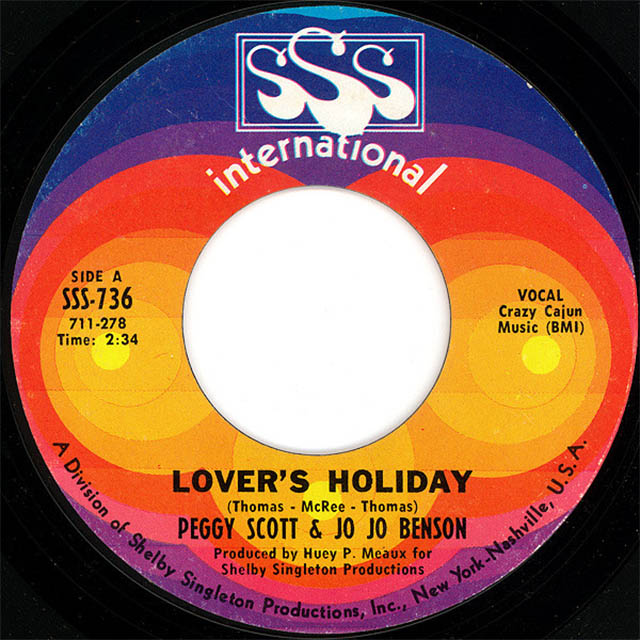 Lover's Holiday by Peggy Scott & Jo Jo Benson