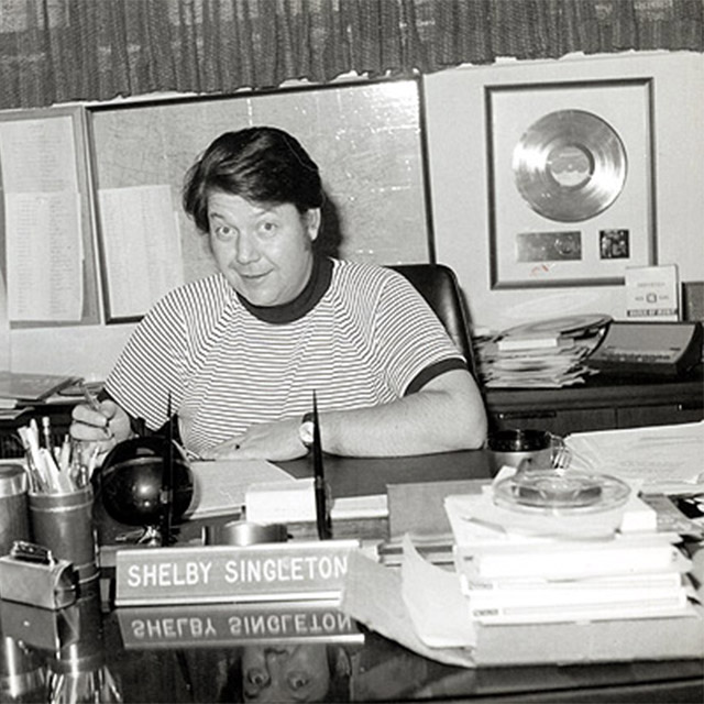 Shelby Singleton at his desk