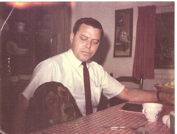 Tom T. Hall with a dog