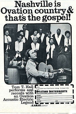 tom t hall ovation magazine ad