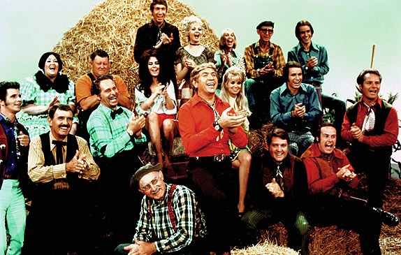 buck owens with cast of hee haw