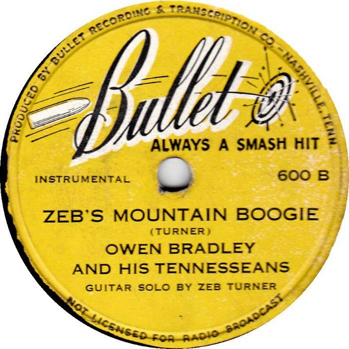 Brad Brady Zeb's Mountain Boogie