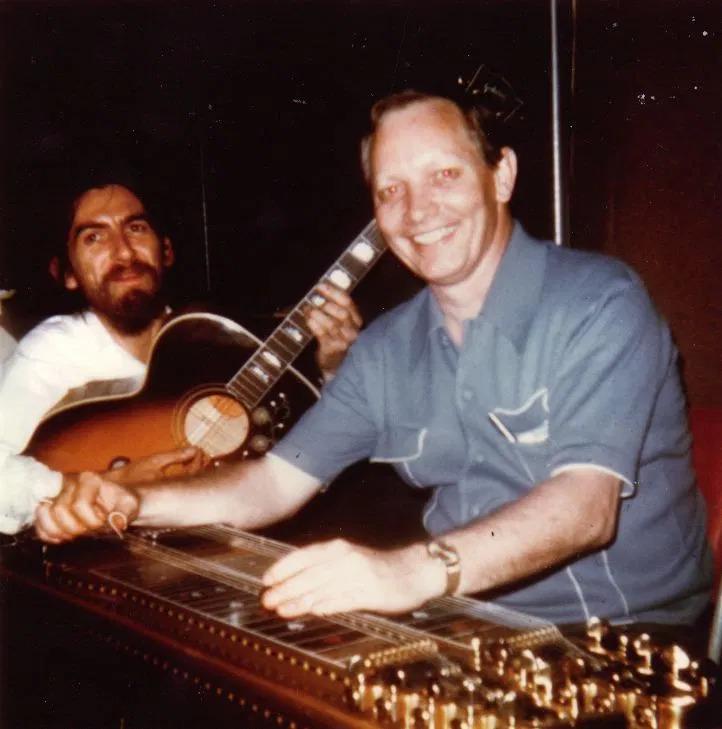 George Harrison and Pete Drake