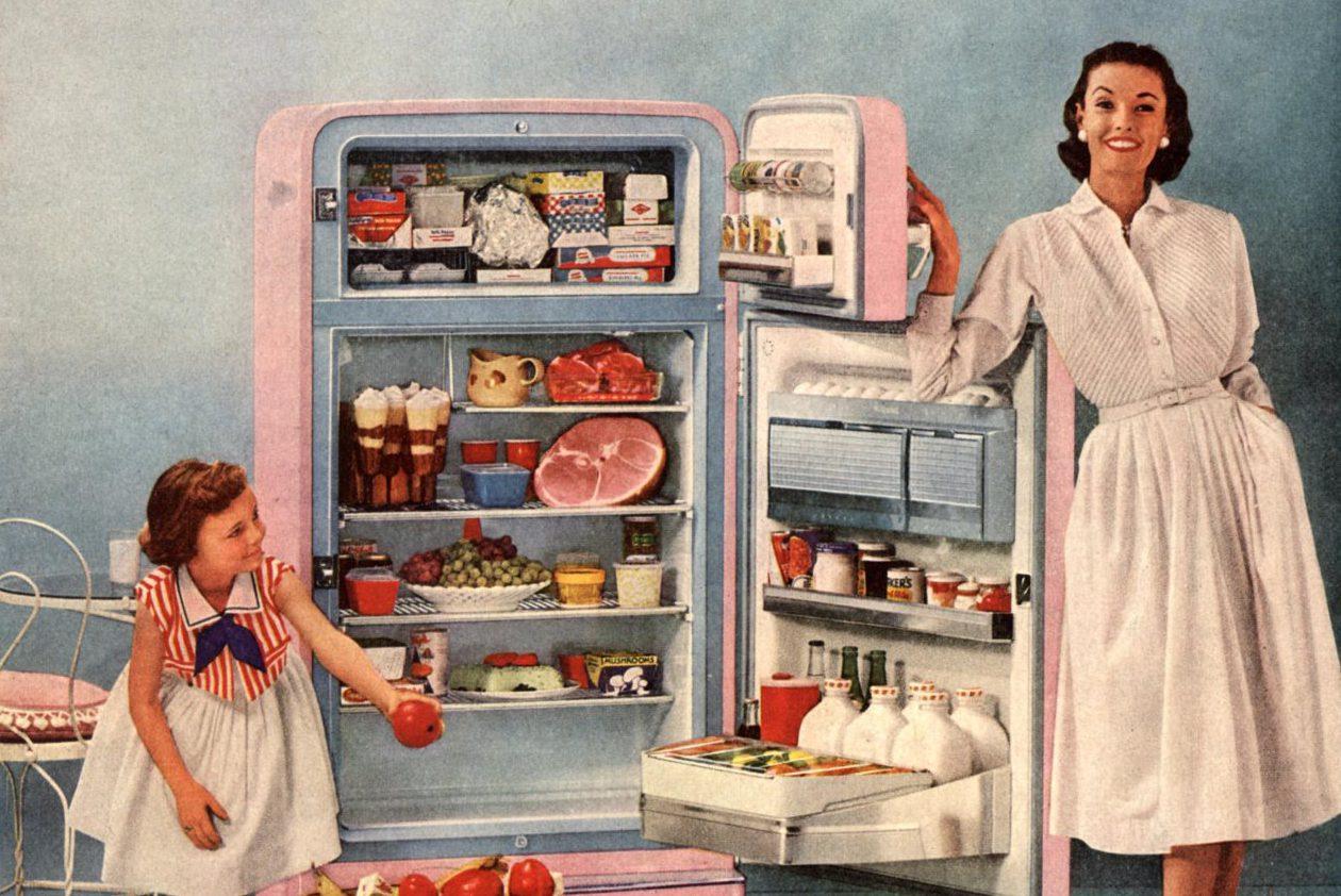 1950s fridge ad
