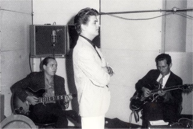 Hank Garland and Chet Atkins in Everly Brothers session