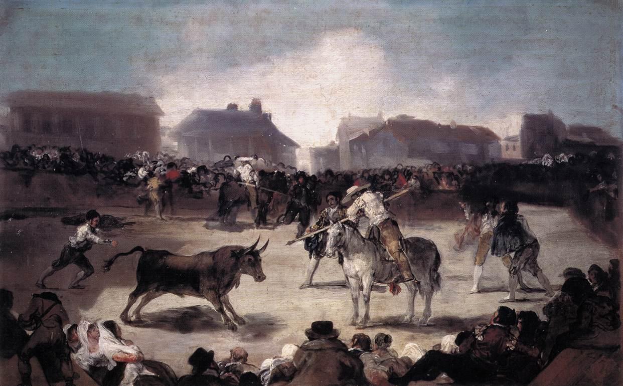 A Village Bullfight by Goya