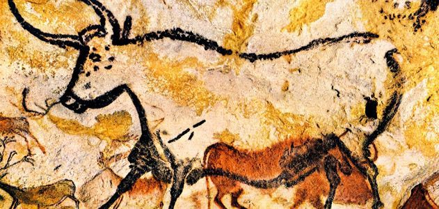 Bulls Painted in the Lascaux Caves