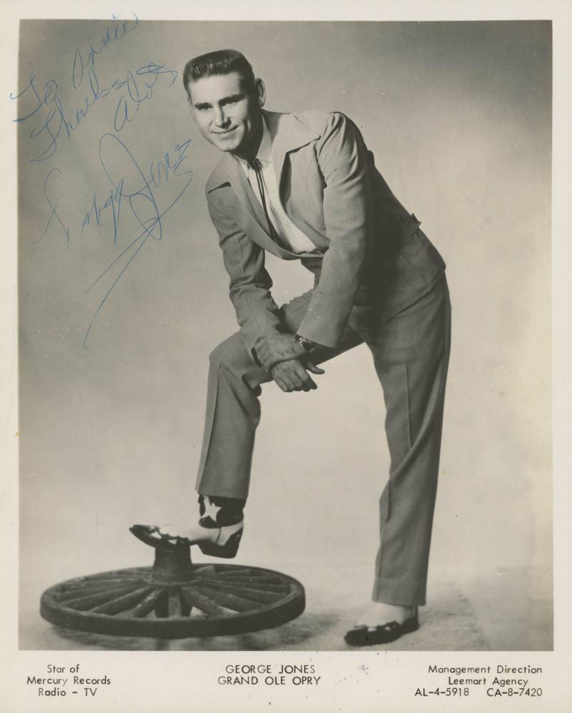 young George Jones autographed Mercury Starday photo