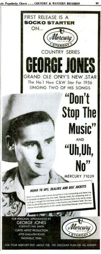 George Jones don't stop the music magazine ad