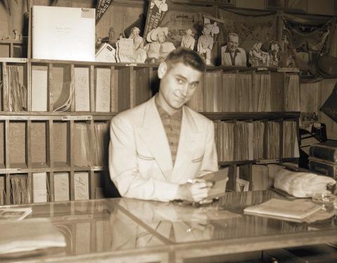 George Jones record store signing