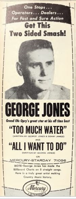George Jones too much water magazine ad
