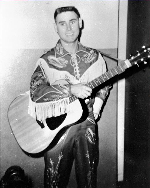 young George Jones in stage clothes