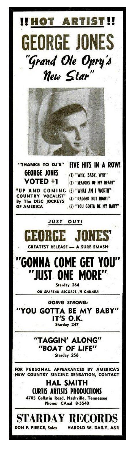 George Jones you gotta be my baby magazine ad