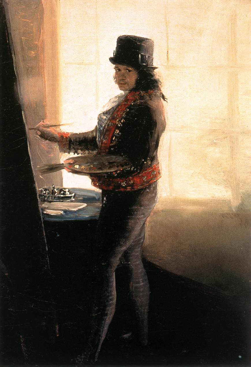 Self-Portrait at an Easel by Francisco Goya