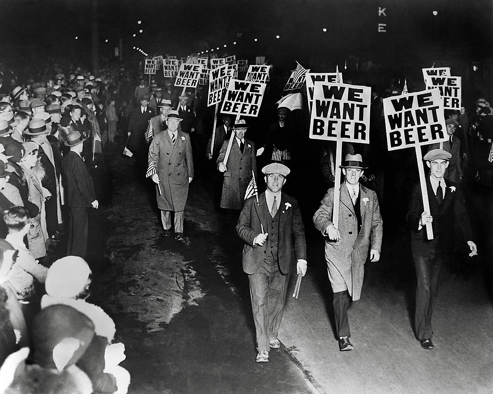 Marching for beer during prohibition