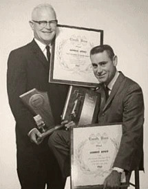 Pappy Daily and George Jones with awards