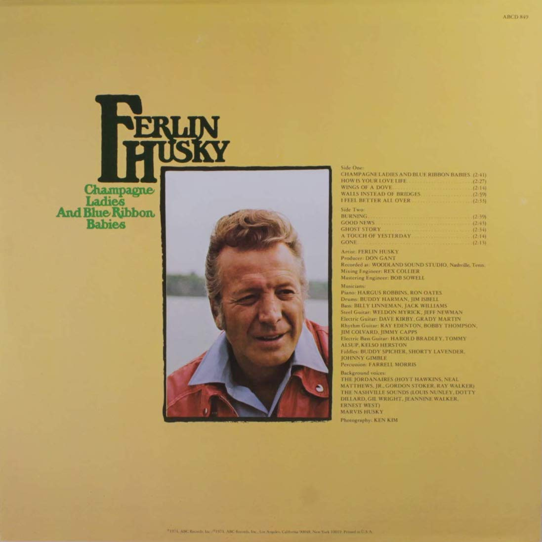 Ferlin Husky Champagne Ladies and Blue Ribbon Babies LP