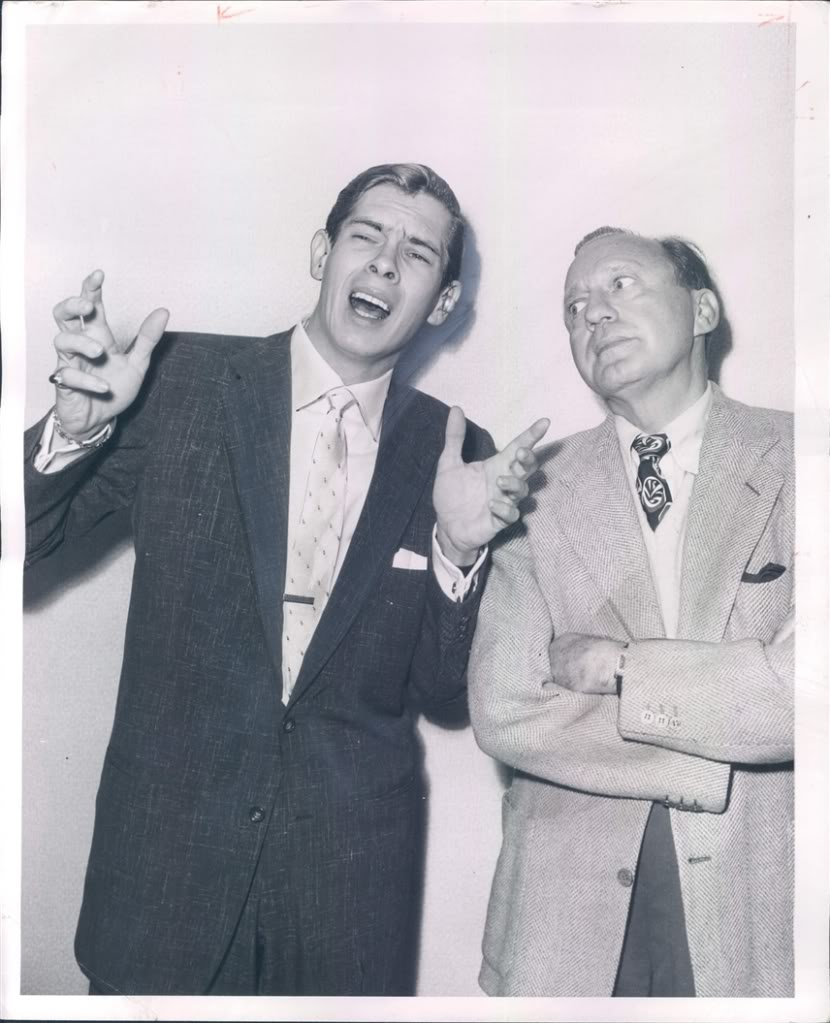 Johnnie Ray and Jack Benny