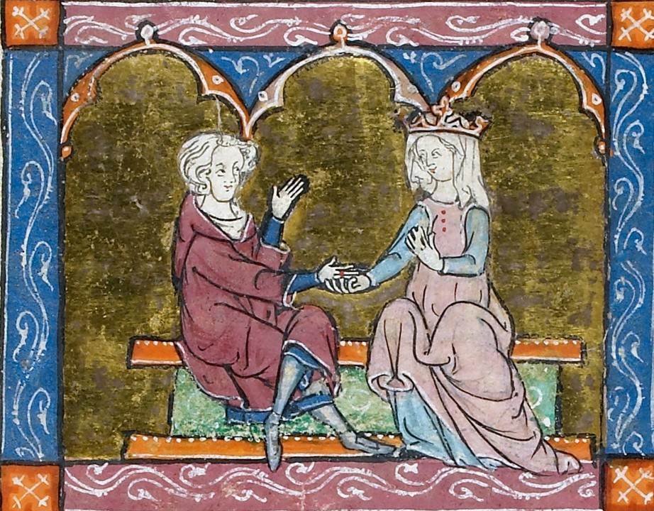 a knight and a lady
