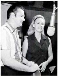 David Houston with Tammy Wynette in the studio